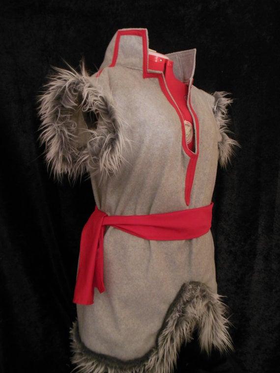 Handmade Fleece and Faux Fur Costume