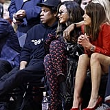 In May 2019, Beyoncé and JAY-Z cuddled up courtside at the NBA playoffs.