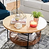 Varley Natural Round Coffee Table With Basket