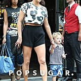 Earlier that day, Paula Patton wore shorts for a walk out in the city with Julian.