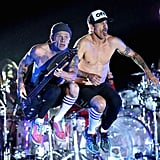 The Red Hot Chili Peppers, one of Sunday's headliners, didn't disappoint with their energetic performance.