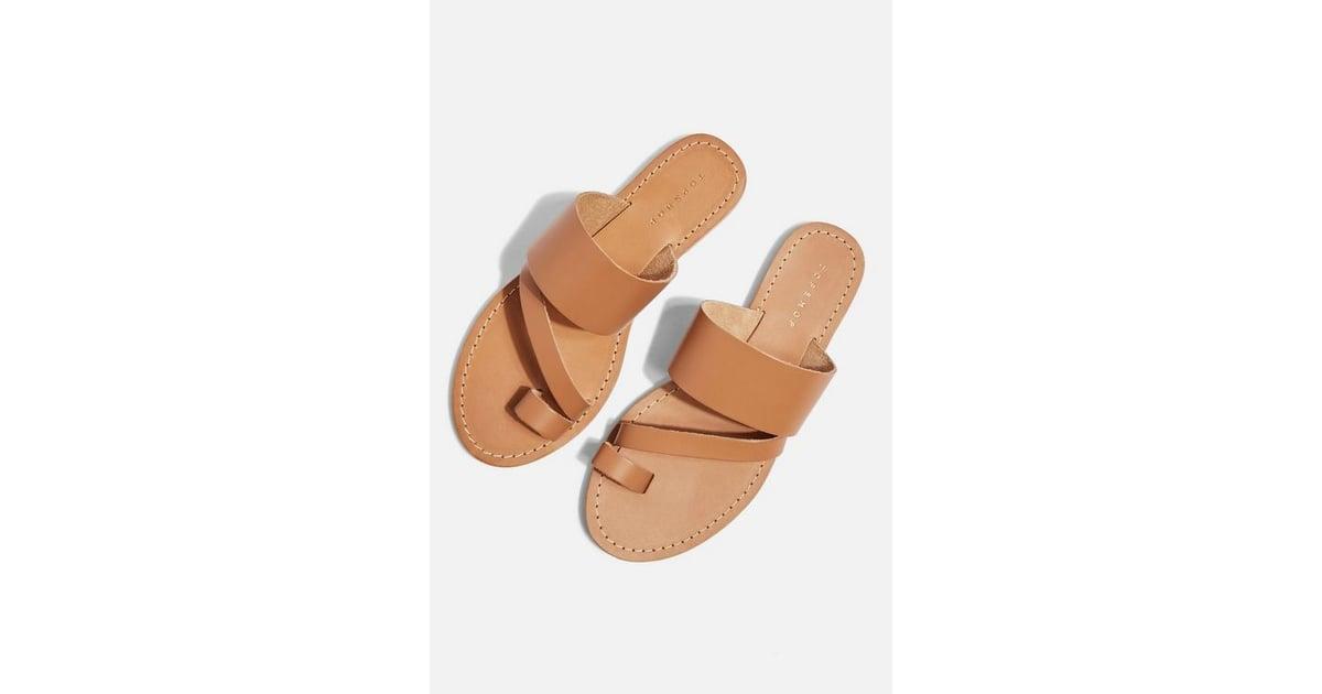 Topshop Honey Tan Flat Sandals | Best Neutral Sandals For