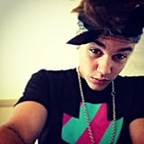 Justin Bieber wore a bandana. Source: Instagram user justinbieber