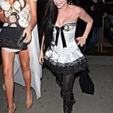 Avril Lavigne got sexy in a sailor outfit to celebrate in LA on Wednesday.