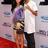 Naya Rivera and Big Sean posed on the red carpet.