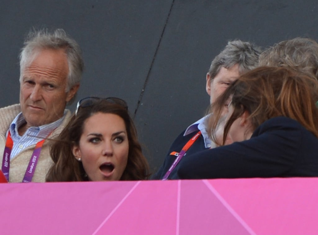 The Duchess of Cambridge showed some emotion.