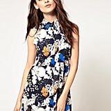 """This buttoned-up shirtdress screams """"Spring must have"""" to us. Vero Moda Leaf Print Gathered Shirt Dress ($25)"""