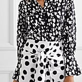 Mother of Pearl Miles Faux Pearl-Embellished Printed Lyocell Shirt