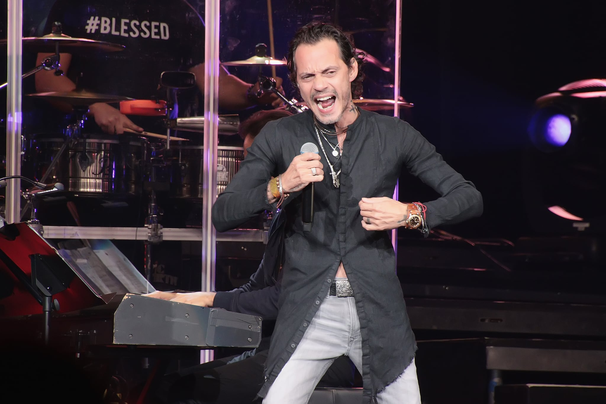 ATLANTIC CITY, NJ - JANUARY 25:  Marc Anthony performs in concert in the Etess Arena at Hard Rock Hotel & Casino Atlantic City on January 25, 2020 in Atlantic City, New Jersey. (Photo by Donald Kravitz/Getty Images)