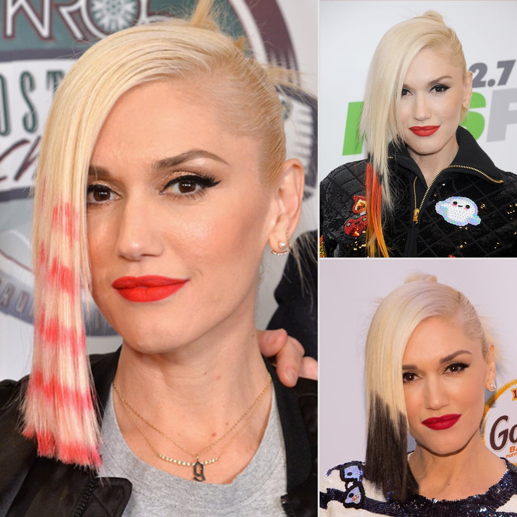 Gwen Stefani Dyed Her Hair Like a Candy Cane