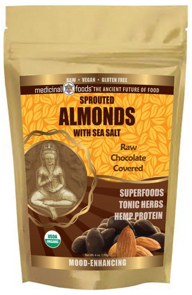 Medicinal Foods Sprouted Almonds With Sea Salt