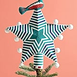 Beaded Star & Bird Tree Topper