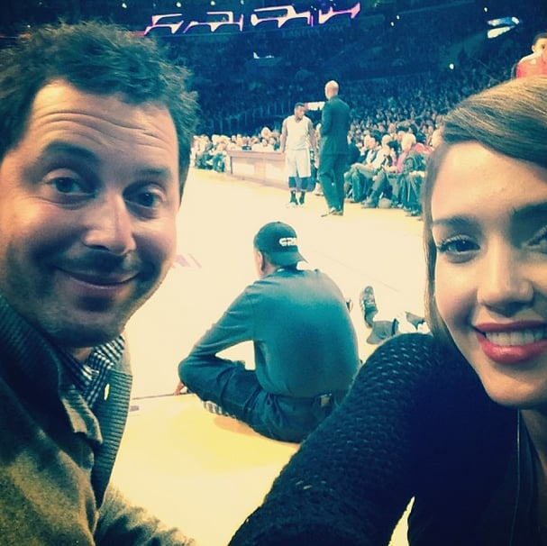 Jessica Alba showed how to wear a subtle lip stain while sitting courtside at the Lakers game. Source: Instagram user jessicaalba