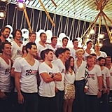 The impressive line-up! The latest crop of CLEO Bachelor boys is looking as good as ever.