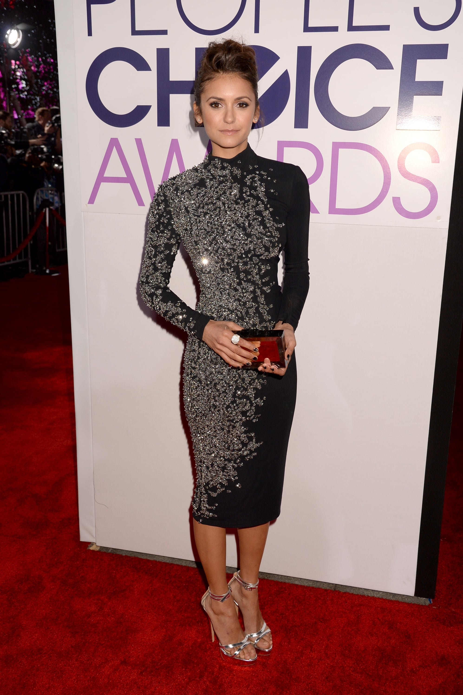 Nina Dobrev at the People's Choice Awards 2014