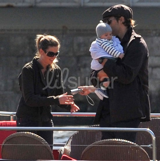 Pictures of Tom Brady and Gisele Bunchen With Baby Ben on the Seine in Paris