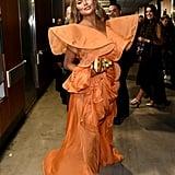Chrissy Teigen Wears Yanina Couture at 2020 Grammy Awards