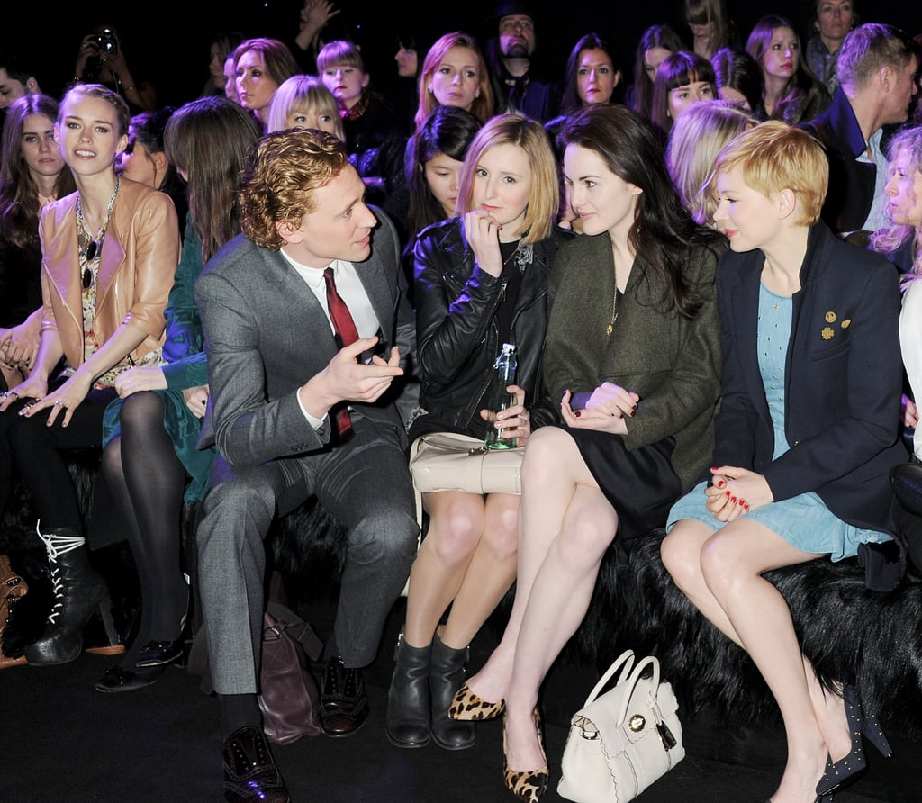 Tom Hiddleston, Laura Carmichael, Michelle Dockery, Michelle Williams checked out Mulberry.