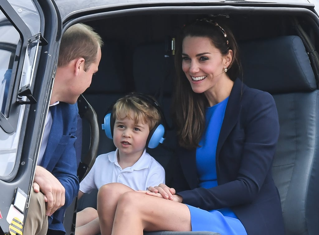 The little prince caught a helicopter ride with his parents back in April.
