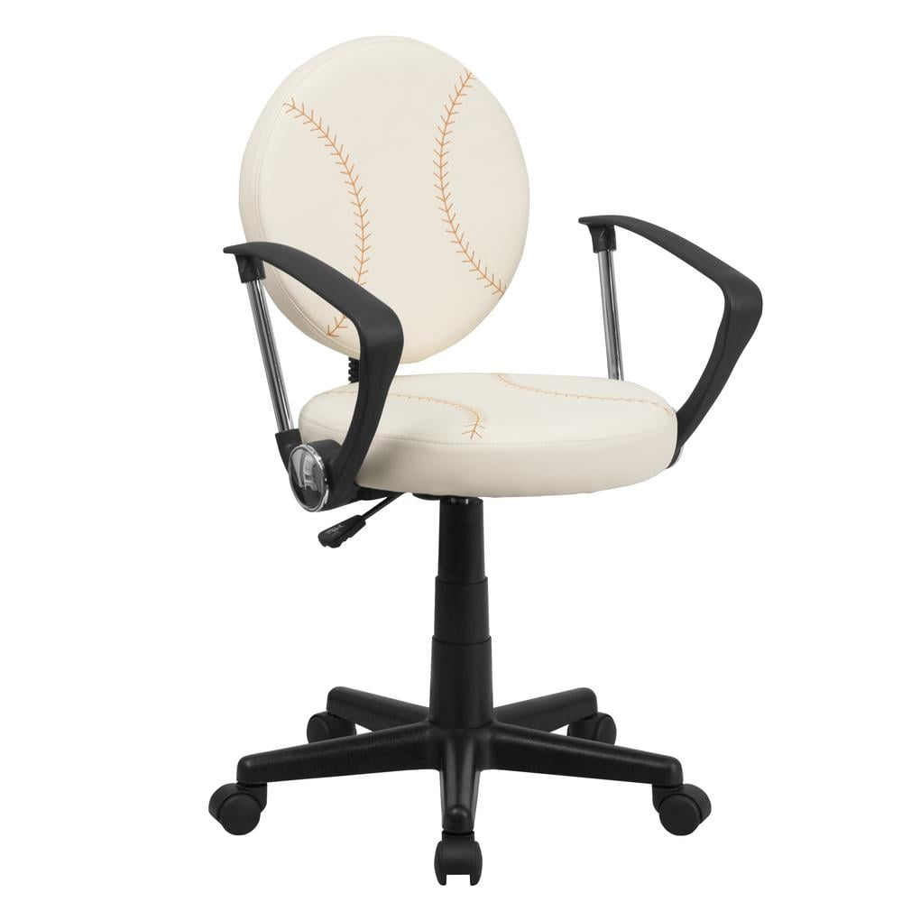 Flash Furniture Baseball Office Chair In Cream