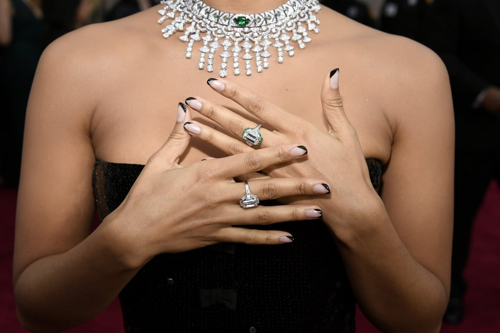 Zazie Beetz's French Moon Manicure at the 2020 Oscars