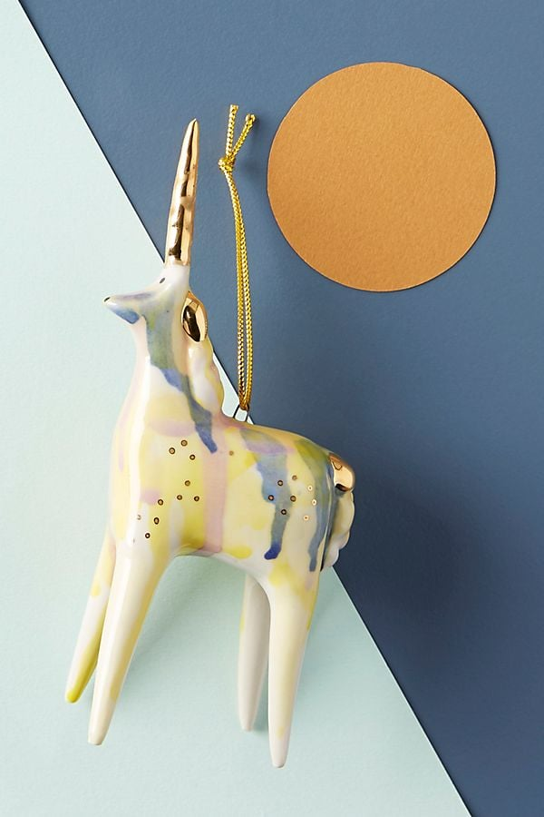 Painted Unicorn Ornament