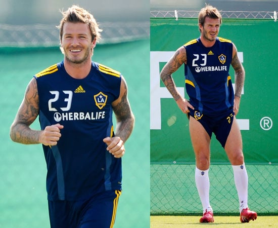 David Beckham Training With LA Galaxy Responding to Fabio Capello's Comments on His England Career Being Over