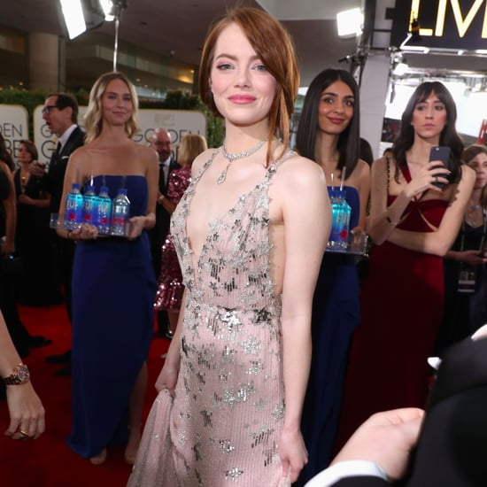 Emma Stone Awkward Hug at 2017 Golden Globe Awards