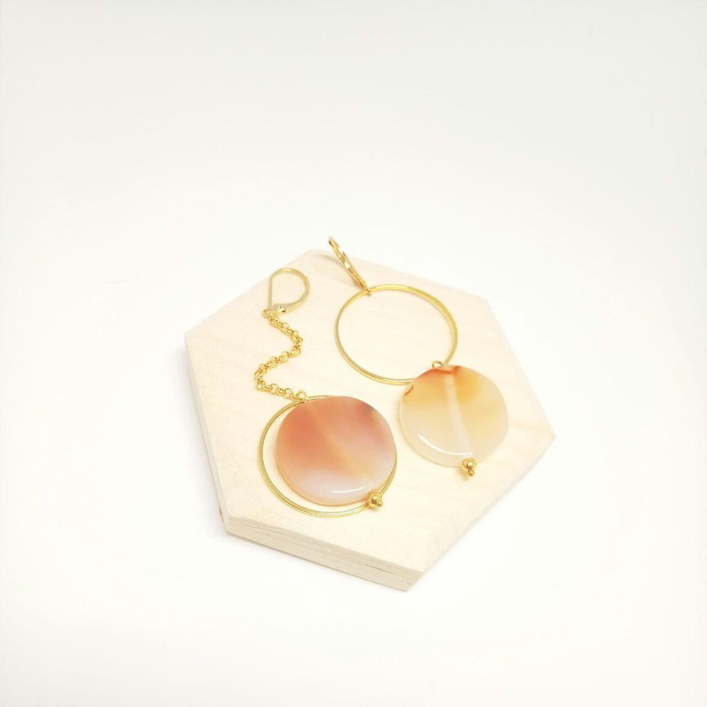 Asymmetrical Agate Earrings
