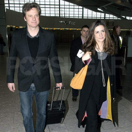 Pictures of Colin Firth Arriving at LAX With His Wife Before the Oscars