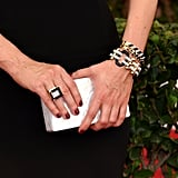 Sarah Paulson was all about stripes at the SAG Awards. Lucky for her, David Webb had just the right accessories.