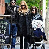 Rachel Zoe, Rodger Berman and Skyler Berman walked together in Soho.