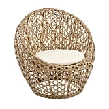 Sand Birds Nest Chair With Round Cushion