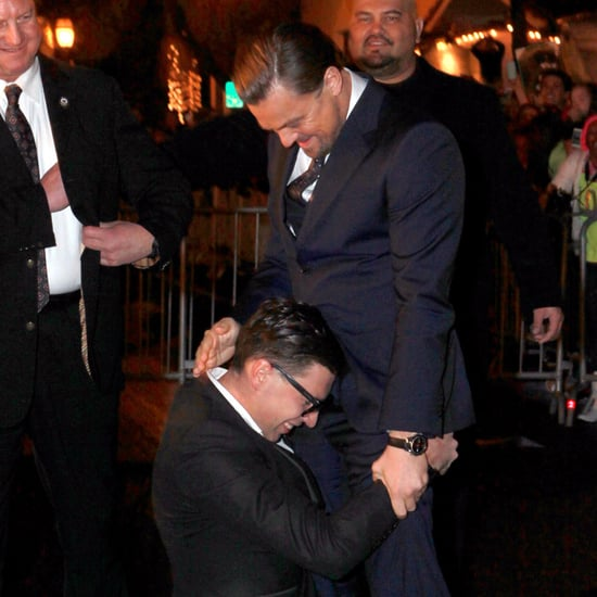 Leonardo DiCaprio Red Carpet; Crotch-Hugging Fan
