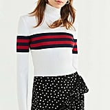 UO Izzie Striped Mock-Neck Sweater