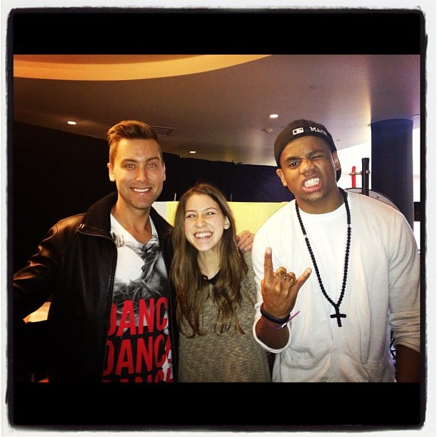 The AMA preshow hosts hung out during Saturday's rehearsal. Source: Instagram user lancebass