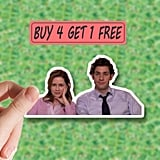 The Office Sticker Jim and Pam