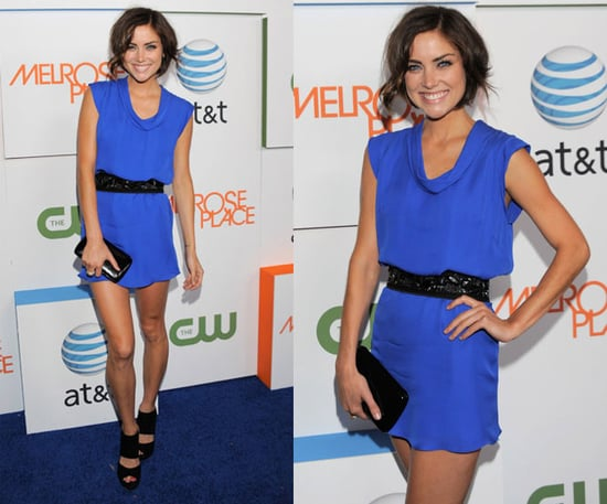 Jessica Stroup Attends Melrose Place Premiere Party in Cobalt Jenni Kayne Dress