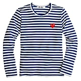 J.Crew Play Comme Des Garcons Stripe Heart Tee