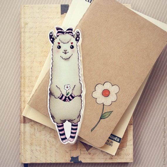 Alpaca Bookmark