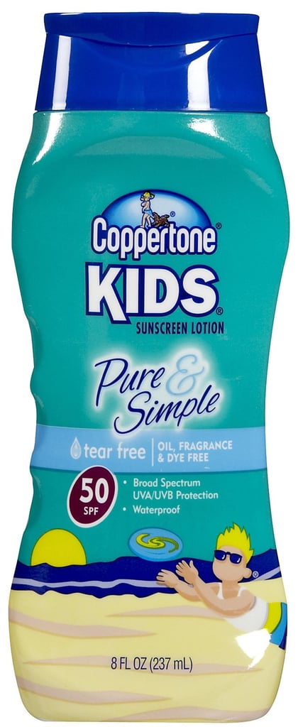 Coppertone's Pure & Simple Sunscreen ($9) — perhaps the most widely available lotion on the market — is oil-, fragrance-, and dye-free and provides broad-spectrum protection through a gentle zinc oxide formula, earning it a great rating on the EWG list.