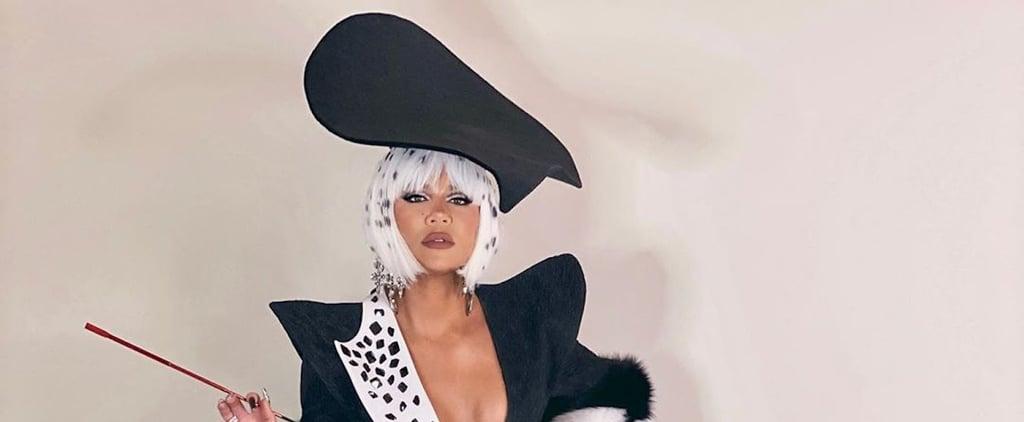 Khloé Kardashian's Cruella de Vil Halloween Nail Art