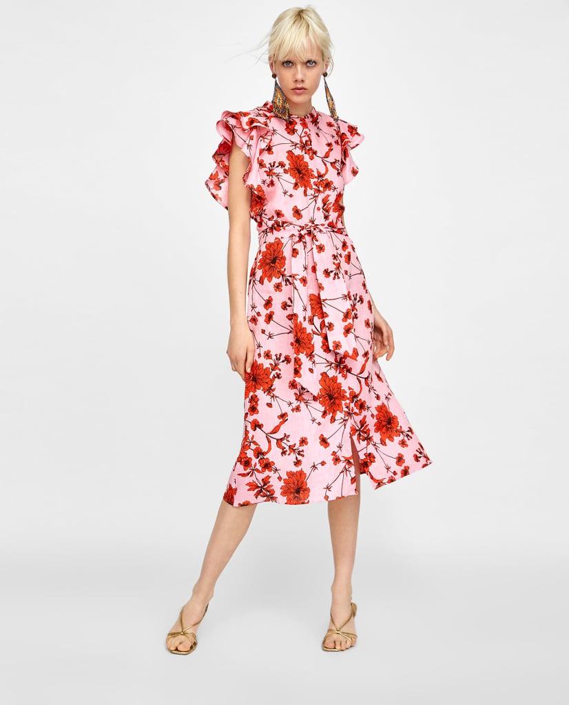 82d69096 Zara Dress | Cheap Wedding Guest Dresses | POPSUGAR Fashion Photo 2
