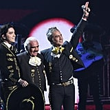 Vicente Fernández at Latin Grammys With Son and Grandson