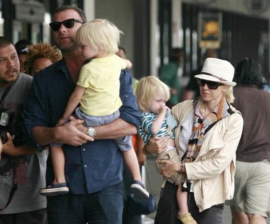 Slide Picture of the Watts-Schreibers Leaving LA