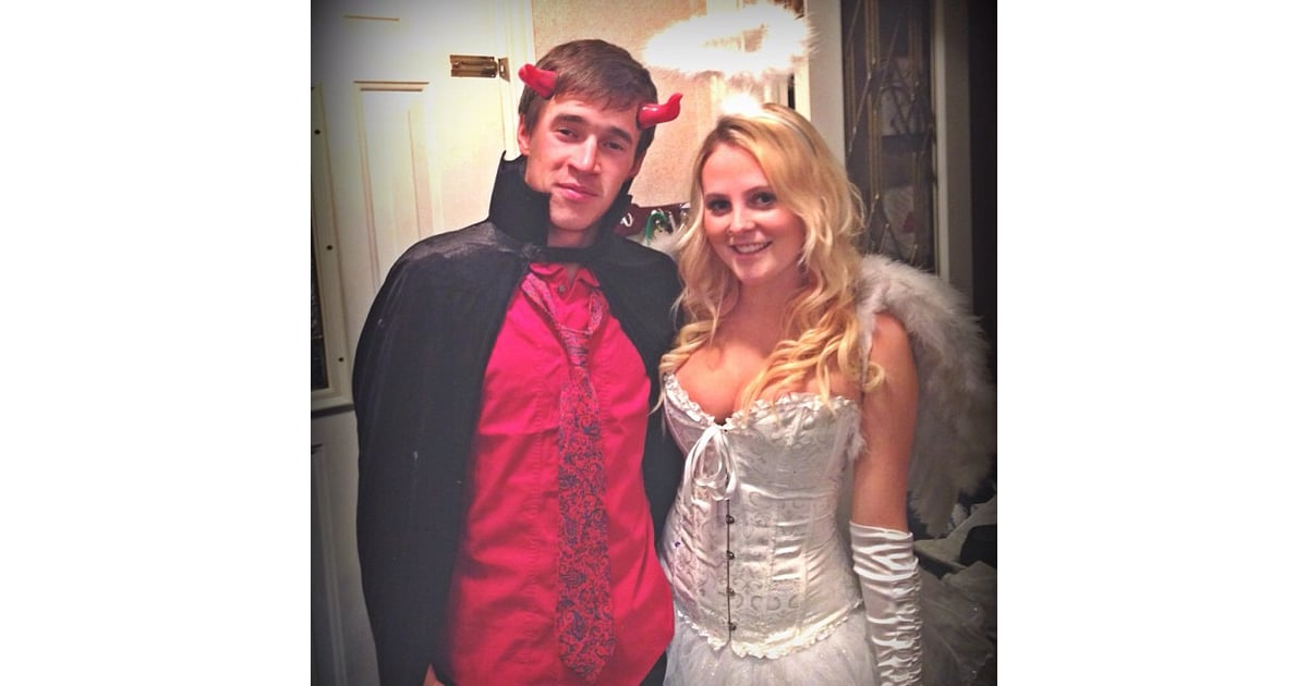 Angel And Devil  Sexy Couples Halloween Costumes -8027