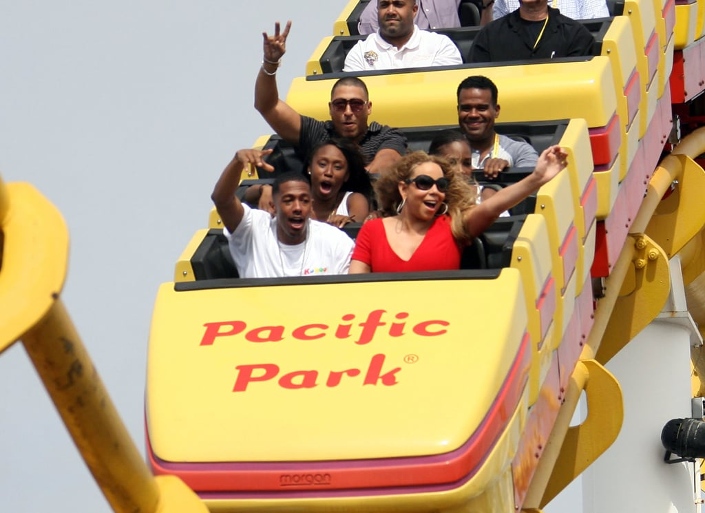 Nick Cannon and Mariah Carey spent the day at the Santa Monica Pier.
