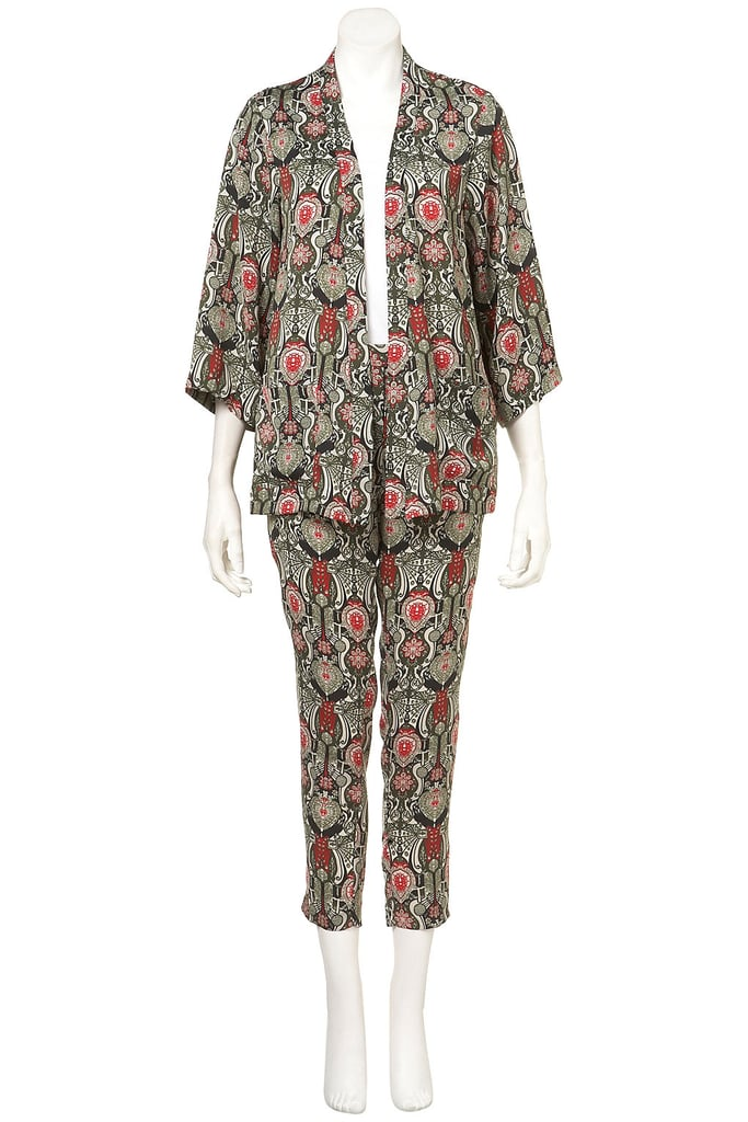 Break them up or wear them as a set — either way, Topshop's Co-ord China Medallion Pyjama Jacket and Trousers set ($176) is a cool, not to mention comfy, way to wear the look.
