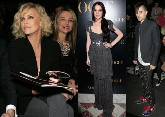 Photos of Lindsay Lohan, Charlize Theron, and Jared Leto at Paris Fashion Week 2010-03-08 19:30:09