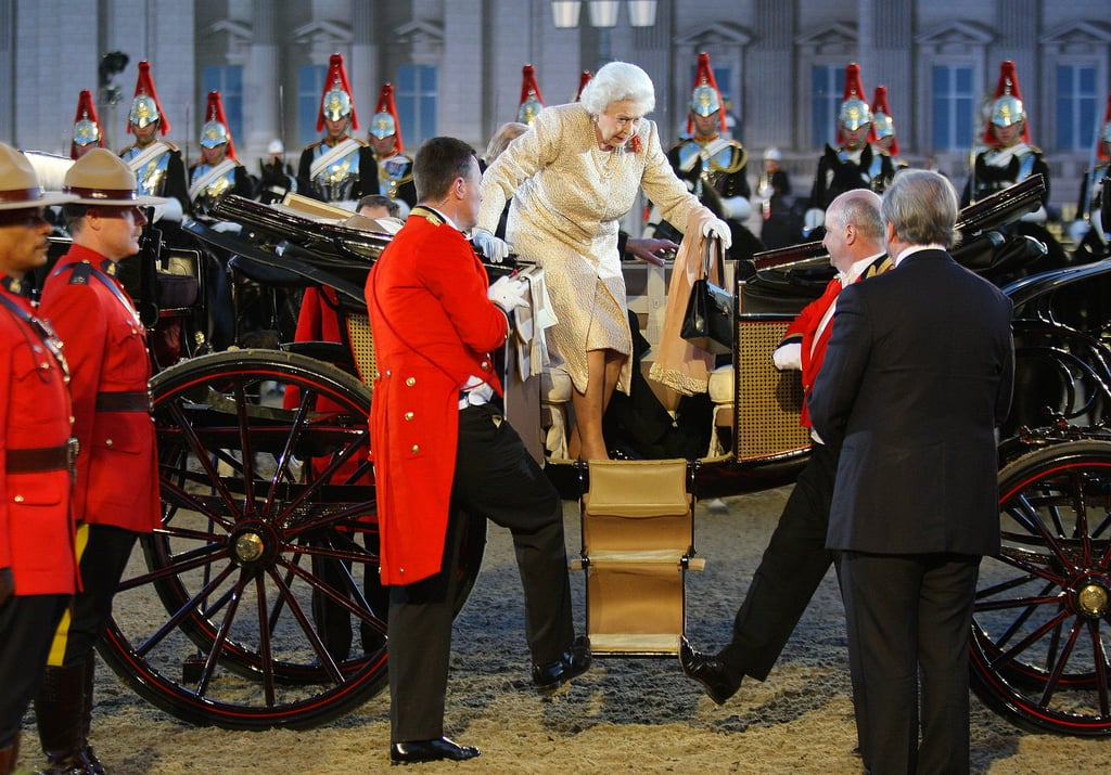Queen Elizabeth II arrived at the Diamond Jubilee Pageant on the private grounds of Windsor Castle on May 13.
